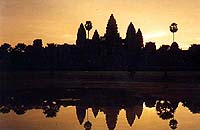 a photograph of Angkor Wat